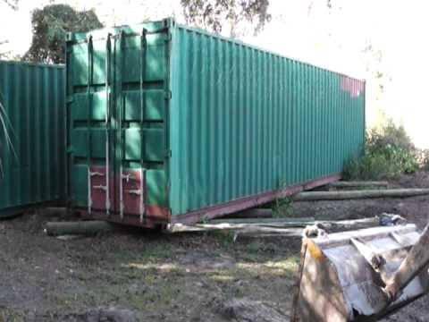 Moving a 7200lbs. Shipping Container the homesteadprepper Way All the Way